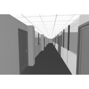 Vue 3D du cloisonement de bureaux à Marignane